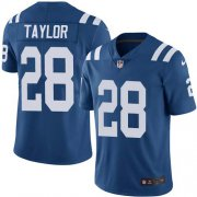 Wholesale Cheap Nike Colts #28 Jonathan Taylor Royal Blue Team Color Men's Stitched NFL Vapor Untouchable Limited Jersey