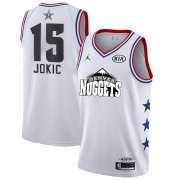 Wholesale Cheap Nuggets #15 Nikola Jokic White Basketball Jordan Swingman 2019 All-Star Game Jersey