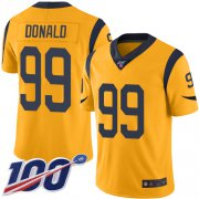Wholesale Cheap Nike Rams #99 Aaron Donald Gold Men's Stitched NFL Limited Rush 100th Season Jersey