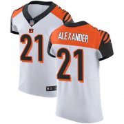 Wholesale Cheap Nike Bengals #21 Mackensie Alexander White Men's Stitched NFL New Elite Jersey