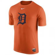 Wholesale Cheap Detroit Tigers Nike Authentic Collection Legend Logo 1.5 Performance T-Shirt Orange