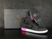 Wholesale Cheap Womens Air Jordan 1 High GS Shoes Black/White-Pink