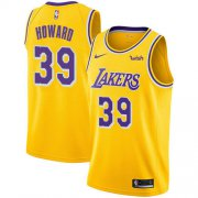 Wholesale Cheap Nike Lakers #39 Dwight Howard Gold NBA Swingman Icon Edition Jersey