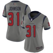 Wholesale Cheap Nike Texans #31 David Johnson Gray Women's Stitched NFL Limited Inverted Legend Jersey