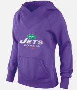 Wholesale Cheap Women's New York Jets Big & Tall Critical Victory Pullover Hoodie Purple