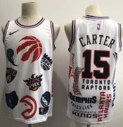 Wholesale Cheap Raptors #15 Vince Carter White Basketball Swingman Jointly Team Jersey