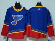Wholesale Cheap Adidas Blues Blank Blue/Red Authentic 2019 Heritage Stitched NHL Jersey