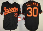 Wholesale Orioles #30 Chris Tillman Black Cool Base Stitched Baseball Jersey