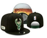 Wholesale Cheap Milwaukee Bucks Snapback Ajustable Cap Hat YD 1
