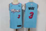 Wholesale Cheap Heat 3 Dwyane Wade Light Blue 2020 Nike City Edition Swingman Jersey