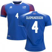 Wholesale Cheap Iceland #4 Gudmundsson Home Soccer Country Jersey