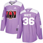 Wholesale Cheap Adidas Senators #36 Colin White Purple Authentic Fights Cancer Stitched NHL Jersey