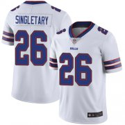 Wholesale Cheap Nike Bills #26 Devin Singletary White Men's Stitched NFL Vapor Untouchable Limited Jersey