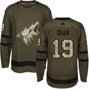 Wholesale Cheap Adidas Coyotes #19 Shane Doan Green Salute to Service Stitched Youth NHL Jersey