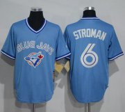 Wholesale Cheap Blue Jays #6 Marcus Stroman Light Blue Cooperstown Throwback Stitched MLB Jersey