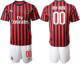 Wholesale Cheap AC Milan Personalized Home Soccer Club Jersey