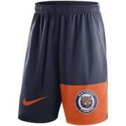 Wholesale Cheap Men's Detroit Tigers Nike Navy Cooperstown Collection Dry Fly Shorts