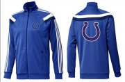 Wholesale NFL Indianapolis Colts Team Logo Jacket Blue_6