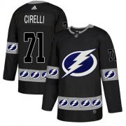 Cheap Adidas Lightning #71 Anthony Cirelli Black Authentic Team Logo Fashion Stitched NHL Jersey