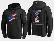 Wholesale Cheap Coyotes #2 Luke Schenn NHL Banner Wave Usa Flag Black Hoodie