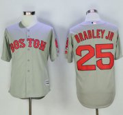 Wholesale Cheap Red Sox #25 Jackie Bradley Jr Grey New Cool Base Stitched MLB Jersey