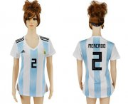 Wholesale Cheap Women's Argentina #2 Mercado Home Soccer Country Jersey