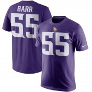 Wholesale Cheap Minnesota Vikings #55 Anthony Barr Nike Player Pride Name & Number T-Shirt Purple