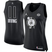 Wholesale Cheap Nike Boston Celtics #11 Kyrie Irving Black Women's NBA Jordan Swingman 2018 All-Star Game Jersey