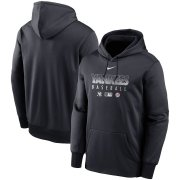 Wholesale Cheap Men's New York Yankees Nike Navy Authentic Collection Therma Performance Pullover Hoodie