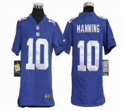 Wholesale Cheap Nike Giants #10 Eli Manning Royal Blue Team Color Youth Stitched NFL Elite Jersey