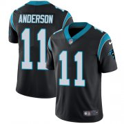 Wholesale Cheap Nike Panthers #11 Robby Anderson Black Team Color Youth Stitched NFL Vapor Untouchable Limited Jersey
