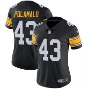Wholesale Cheap Nike Steelers #43 Troy Polamalu Black Alternate Women's Stitched NFL Vapor Untouchable Limited Jersey
