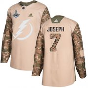 Cheap Adidas Lightning #7 Mathieu Joseph Camo Authentic 2017 Veterans Day Youth 2020 Stanley Cup Champions Stitched NHL Jersey