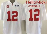 Wholesale Cheap Men's Alabama Crimson Tide #12 David Cornwell White 2016 BCS College Football Nike Limited Jersey