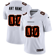Wholesale Cheap Cincinnati Bengals Custom White Men's Nike Team Logo Dual Overlap Limited NFL Jersey
