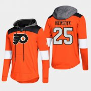 Wholesale Cheap Flyers #25 James Van Riemsdyk Orange 2018 Pullover Platinum Hoodie