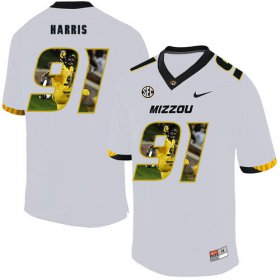 Wholesale Cheap Missouri Tigers 91 Charles Harris White Nike Fashion College Football Jersey