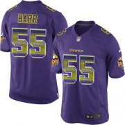 Wholesale Cheap Nike Vikings #55 Anthony Barr Purple Team Color Men's Stitched NFL Limited Strobe Jersey
