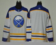 Wholesale Cheap Men's Buffalo Sabres Blank White Adidas 2020-21 Alternate Authentic Player NHL Jersey