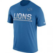 Wholesale Cheap Men's Detroit Lions Nike Practice Legend Performance T-Shirt Blue