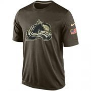 Wholesale Cheap Men's Colorado Avalanche Salute To Service Nike Dri-FIT T-Shirt