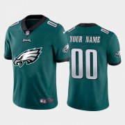 Wholesale Cheap Philadelphia Eagles Custom Green Men's Nike Big Team Logo Vapor Limited NFL Jersey