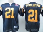 Wholesale Cheap Jets #21 LaDainian Tomlinson Dark Blue With AFL 50TH Patch Stitched NFL Jersey