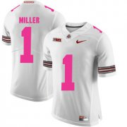 Wholesale Cheap Ohio State Buckeyes 1 Braxton Miller White 2018 Breast Cancer Awareness College Football Jersey
