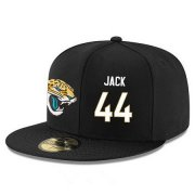 Wholesale Cheap Jacksonville Jaguars #44 Myles Jack Snapback Cap NFL Player Black with White Number Stitched Hat