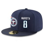 Wholesale Cheap Tennessee Titans #8 Marcus Mariota Snapback Cap NFL Player Navy Blue with White Number Stitched Hat