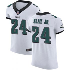 Wholesale Cheap Nike Eagles #24 Darius Slay Jr White Men\'s Stitched NFL New Elite Jersey