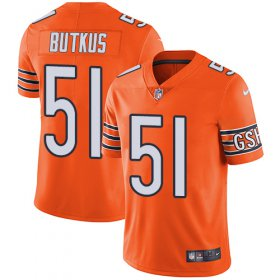 Wholesale Cheap Nike Bears #51 Dick Butkus Orange Men\'s Stitched NFL Limited Rush Jersey