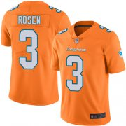 Wholesale Cheap Nike Dolphins #3 Josh Rosen Orange Men's Stitched NFL Limited Rush Jersey
