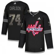 Wholesale Cheap Adidas Capitals #74 John Carlson Black Authentic Classic Stitched NHL Jersey